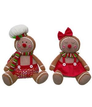 Plush Gingerbread Sitter 2 Asst