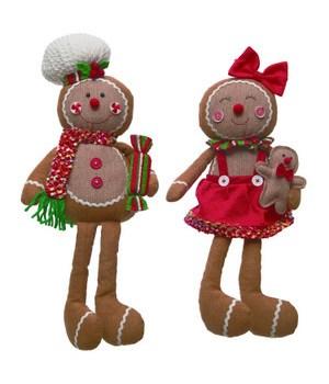 Plush Gingerbread Shelf Sitter 2 Asst
