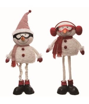 Plush Happy Telescoping Snowman 2 Asst