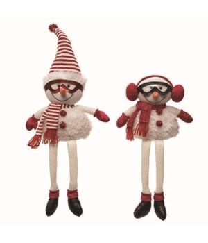 Plush Happy Snowman Shelf Sitter 2 Asst