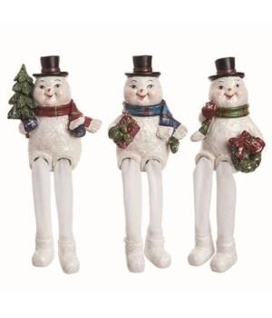 Res Nostalgic Snowman Sitter 3 Asst
