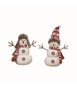 Lg Plush Merry Snowman 2 Asst