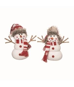 Sm Plush Merry Snowman 2 Asst