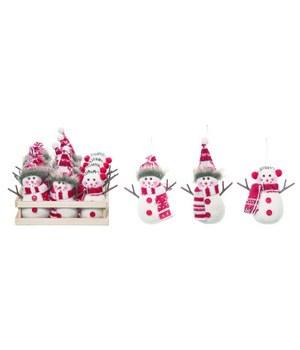 Mini Plush Snowman w/Crate S/12