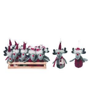 Plush Moose Orns w/Crate S/12
