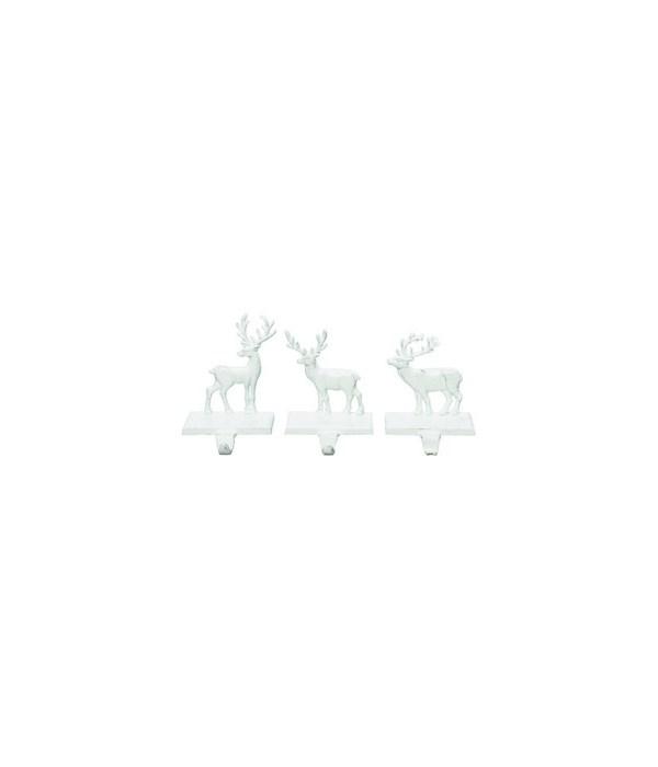Iron Reindeer Stocking Holder 3 Asst