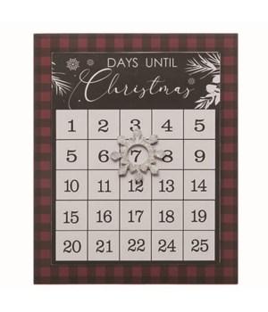 MDF Christmas Countdown Wall Decor