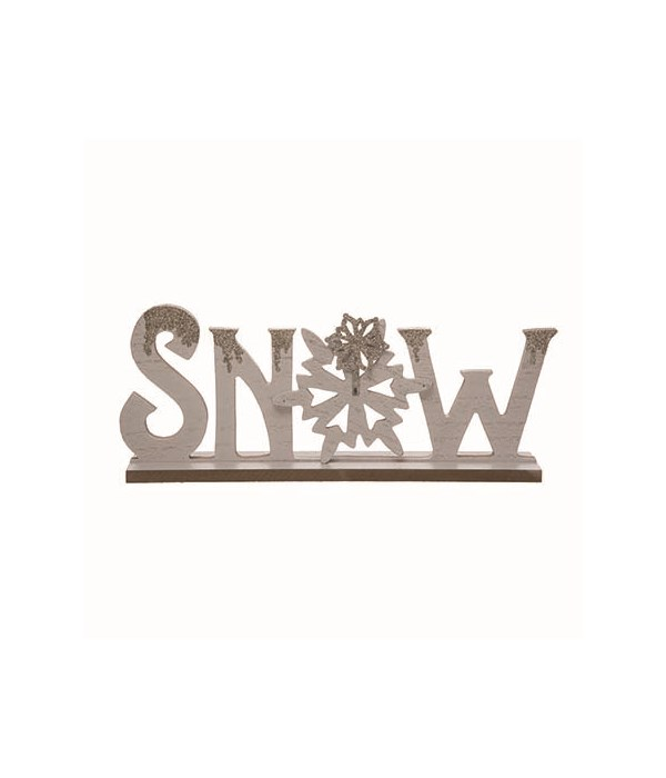 MDF Cut Out Snow Tabletop Decor