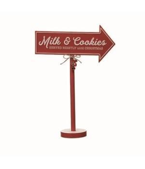 MDF Milk & Cookies Standing Sign NOT KD