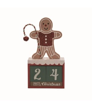 MDF Gingerbread Christmas Countdown S/3