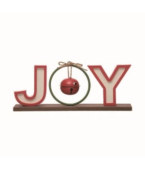 MDF Joy w/Bell Tabletop Decor