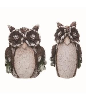 Res Woodsy Owl Decor 2 Asst