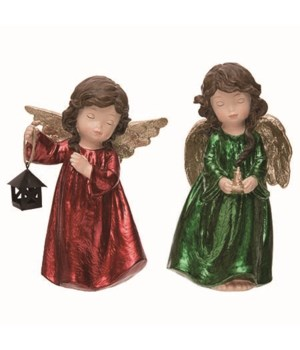 Lg Metallic Angel Fig 2 Asst