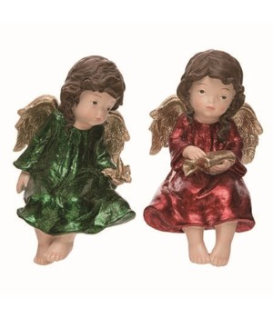 Res Metallic Angel Sitter 2 Asst