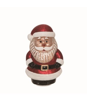 Glass Light Up Vintage Santa Decor