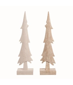 Res Carved Tree Decor 2 Asst