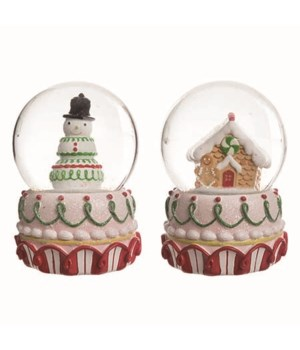 Res Christmas Candy Water Globe 2 Asst