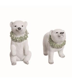Res Polar Bear w/Wreath Fig 2 Asst