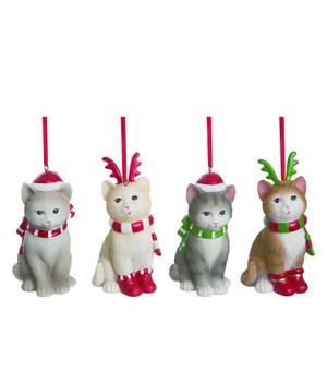 Res Christmas Kitty Orn 4 Asst