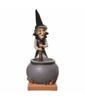Jumbo Res Fuzzy Witch w/Cldrn Decor