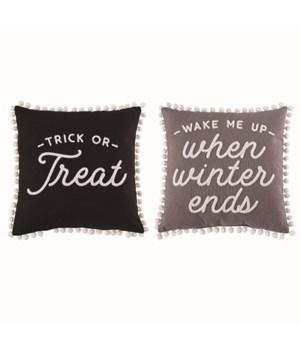 Fabric Rvrsbl TrickorTreat/Winter Pillow