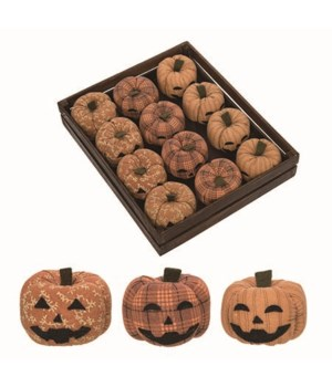Plush Jack-O-Lanterns w/Crate S/12