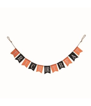 Fabric Trick Or Treat Banner