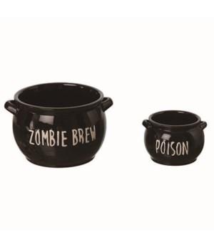 Med/Sm Dol Cauldron Dip Bowls S/2
