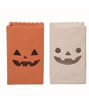 Dol Jack-O-Lantern Bag Decor 2 Asst