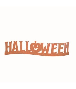 Metal Halloween Glitz Sign