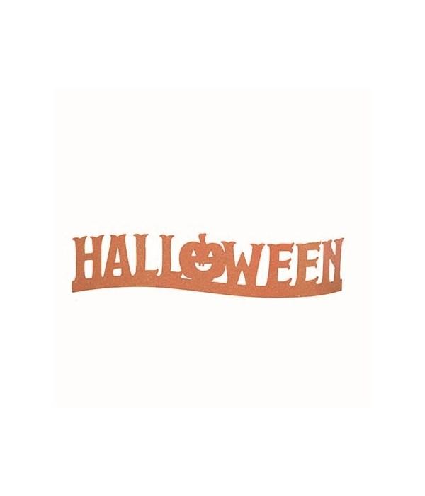 Metal Halloween Glitz Sign