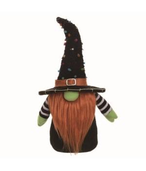 Sm Plush Halloween Gnome Decor