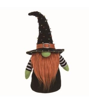 Lg Plush Halloween Gnome Decor