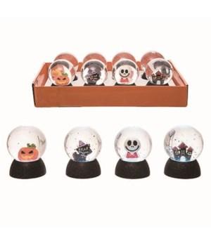 Plastic Spooky Globes w/Display S/8