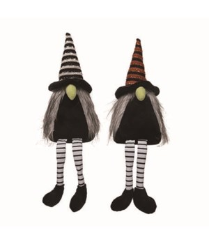 Plush Witch Gnome Sitters 2 Asst