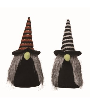 Plush Witch Gnome 2 Asst