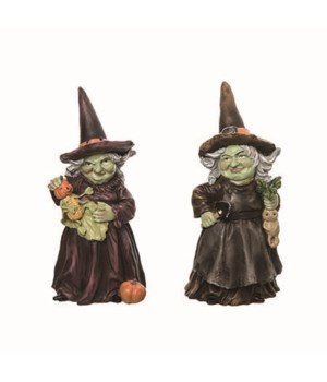 Res Green Face Witch Fig 2 Asst