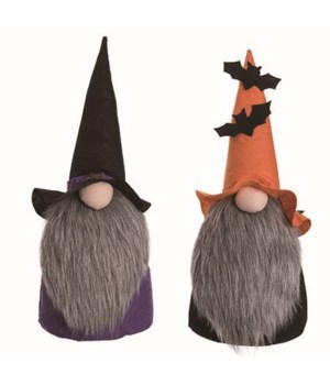 Lg Fabric Witch Gnome 2 Asst