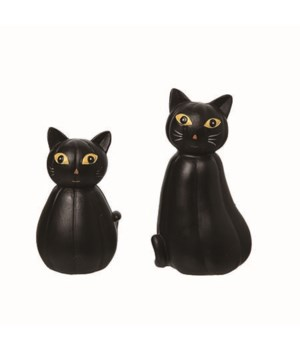 Res Black Gourd Cats S/2
