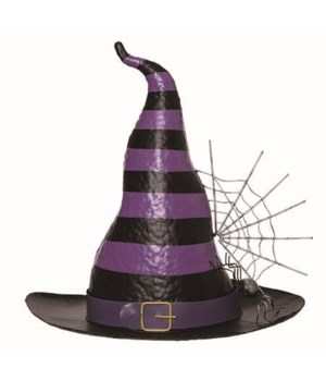 Metal Witch Hat Decor