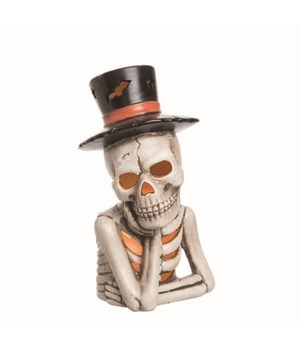 Dol Light Up Top Hat Skeleton