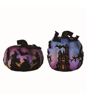 Res Light Up Witch Pumpkin 2 Asst