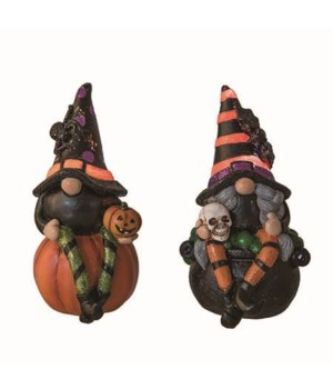 Res Light Up Witch Gnome 2 Asst