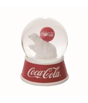 Res/Gls LED Coke Polar Bears Snow Globe