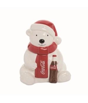 Polar Bear With Coke Snack Jar
