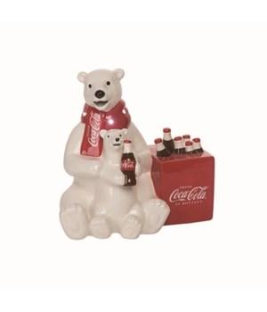 Dol LED Polar Bear & Cub w Cooler Fig