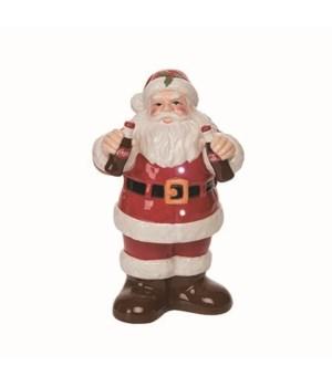 Dol LED Santa With Coke Bottles Figurine