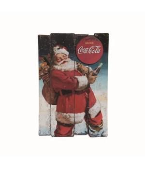 MDF Coke Santa w/Presents Wall Art