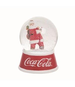 Res/Gls LED Coke Santa Snow Globe