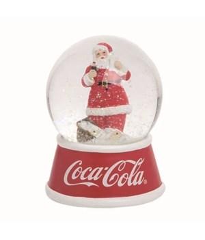 Res/Gls LED Coke Santa w Ltrs Snow Globe